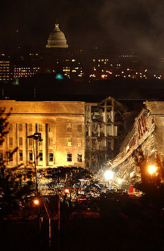 september 11, 2001 damage to pentagon photo